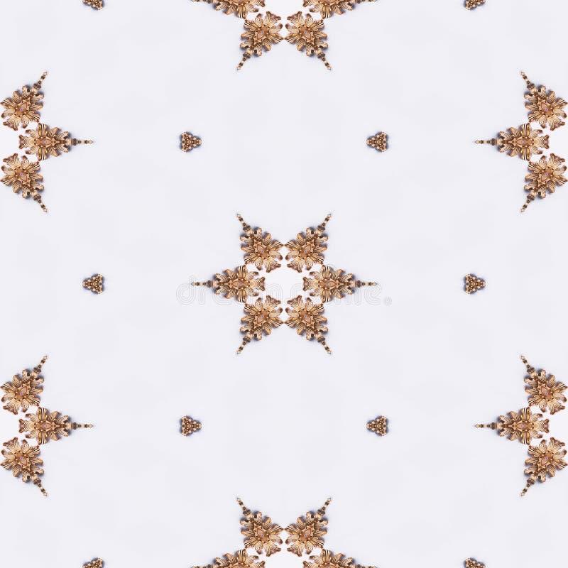 Luxury elegant ornamental golden background royalty free illustration