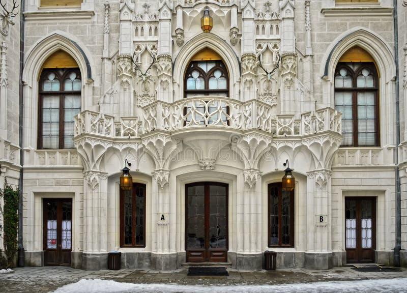 Luxury Fairy-tale Residence Castle Landmark Bohemia stock images