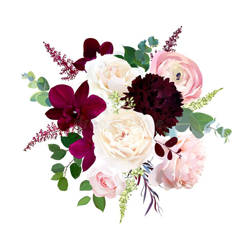 Luxury Fall Flowers Vector Design Frame Stock Vector ...