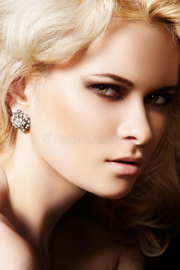 Download Luxury And Fashion Style. Female Face With Make-up Stock Photo - Image: 16452498