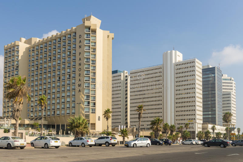 Luxury five-star hotel in the resort area of Tel Aviv. Israil royalty free stock images