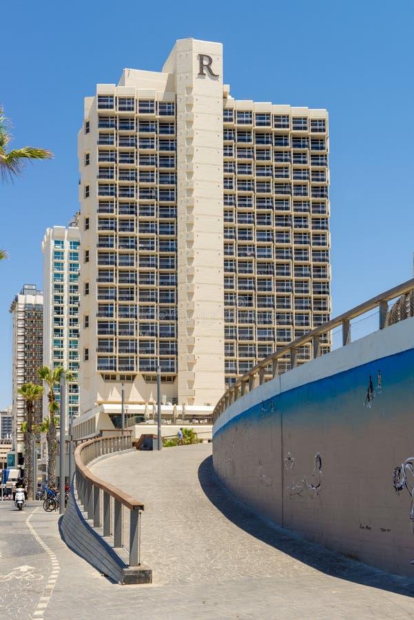 Luxury five-star hotel in the resort area of Tel Aviv. Israil stock photo