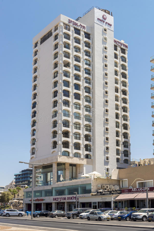 Luxury five-star hotel in the resort area of Tel Aviv. Israil stock photography