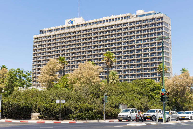 Luxury five-star hotel in the resort area of Tel Aviv. Israil royalty free stock photos