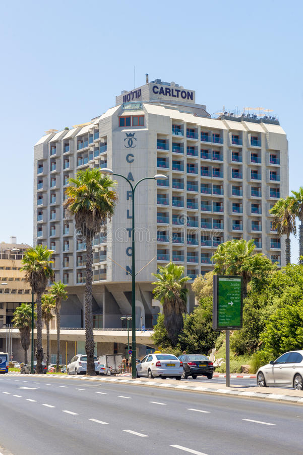 Luxury five-star hotel in the resort area of Tel Aviv. Israil royalty free stock photo