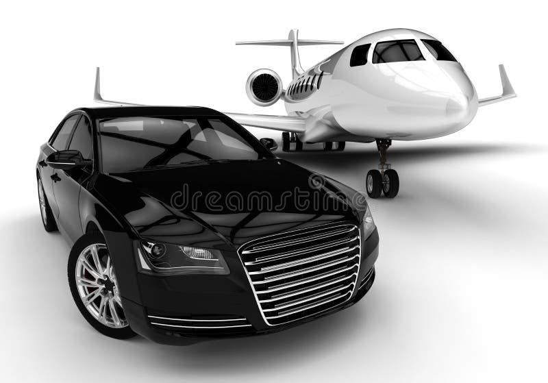 Luxury fleet royalty free illustration