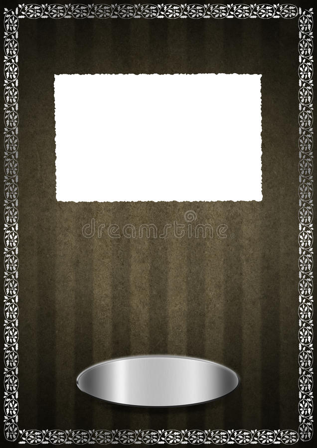 Luxury Floral Brown and Silver Velvet Background
