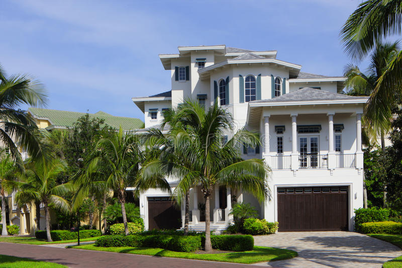 Luxury Florida house stock photo