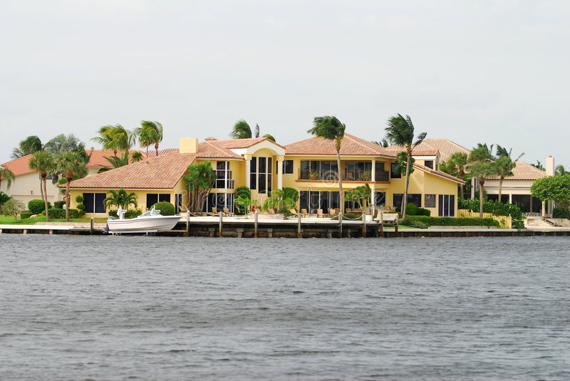 Download Luxury Florida residence stock image. Image of real, upper - 3277313