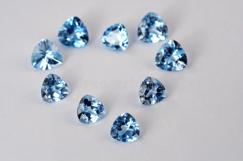 Luxury gems in view heart royalty free stock photography