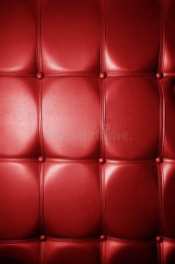 Luxury genuine leather. Red color