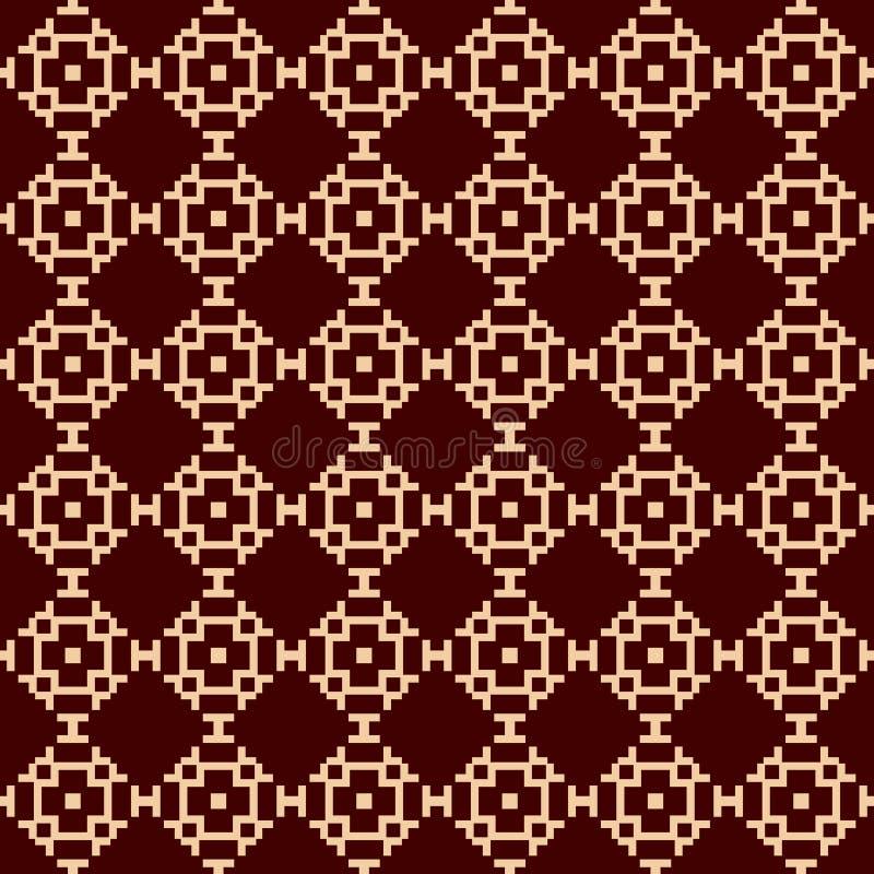 Luxury Geometric Pattern. Vector seamless pattern. Modern linear stylish texture. Geometric striped ornament. stock illustration