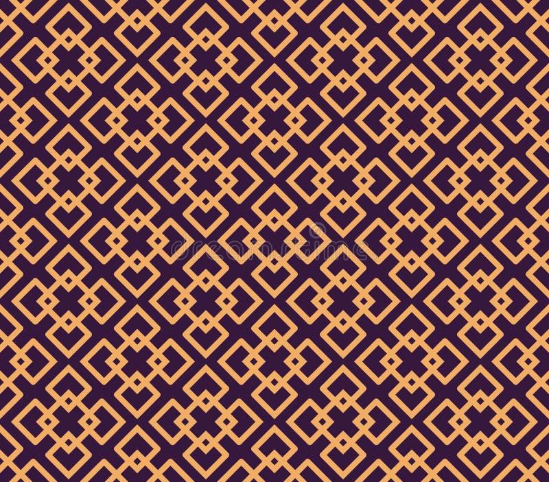 Luxury Geometric Pattern. Vector seamless pattern. Modern linear stylish texture. Geometric striped ornament royalty free illustration