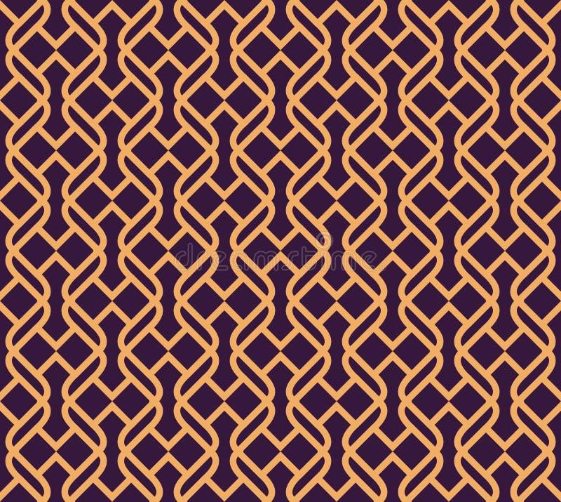 Luxury Geometric Pattern. Vector seamless pattern. Modern linear stylish texture. Geometric striped ornament vector illustration