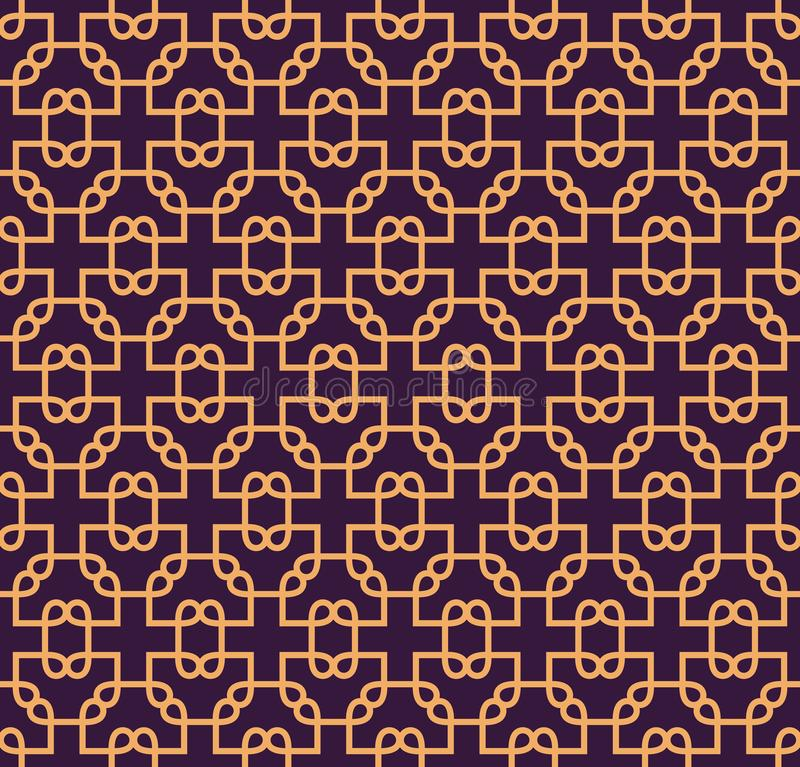 Luxury Geometric Pattern. Vector seamless pattern. Modern linear stylish texture. Geometric striped ornament stock illustration
