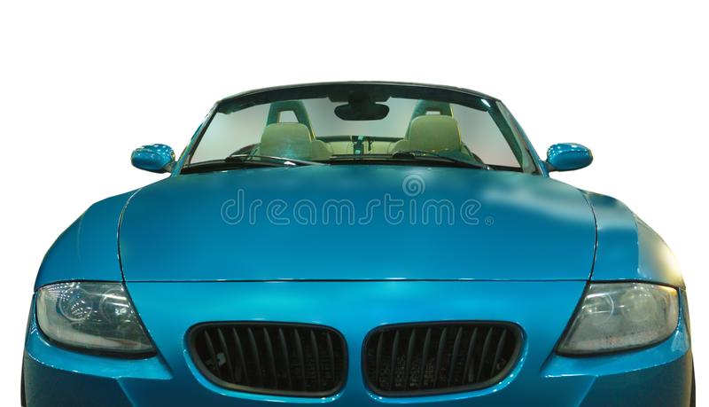 Luxury German Roadster. White background. Front View. Luxury German Roadster isolated on white background stock image