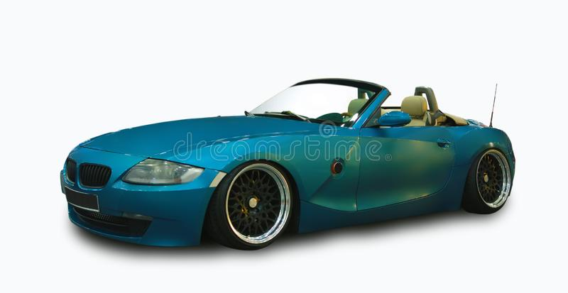 Luxury German Roadster. White background. Luxury German Roadster isolated on white background royalty free stock images