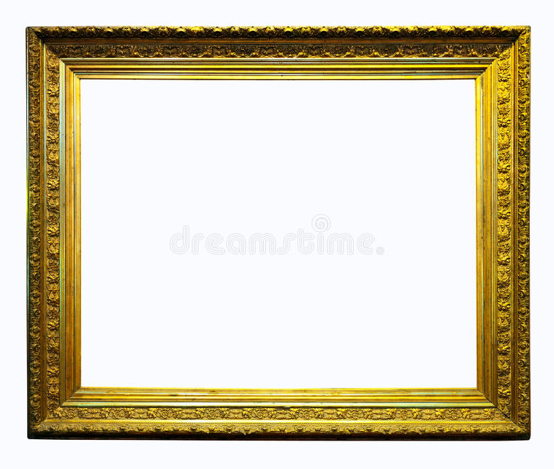 Luxury gilded frame. Isolated with clipping path royalty free stock photography