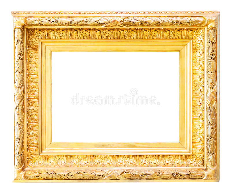 Unique Luxury Gilded Frame Over White Stock Image - Image of revival  PF93