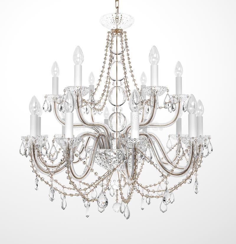 Luxury Glass Chandelier. On white background stock illustration