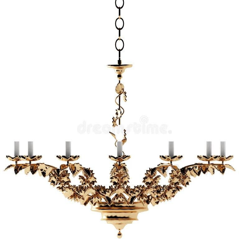 Luxury gold chandelier stock illustration