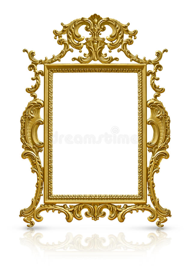 Luxury gold frame stock photo. Image of base, decoration - 34066066