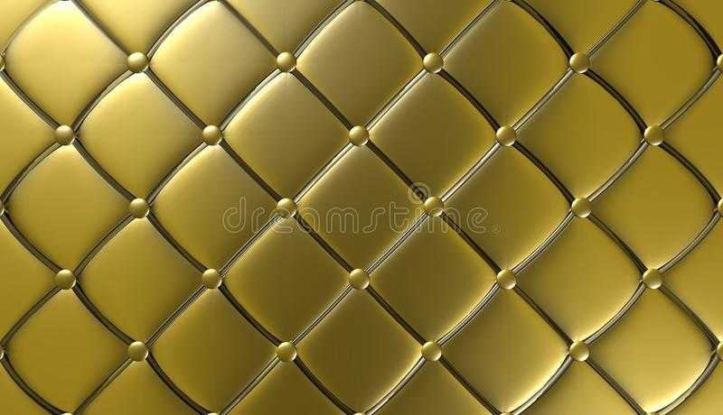 Download Luxury Gold Leather Furniture Wallpaper Illustration Stock