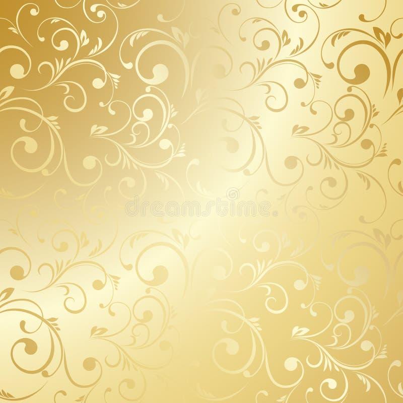 Download Luxury Golden Floral Wallpaper Stock Vector