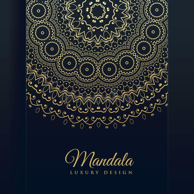 Luxury golden mandala art vector background vector illustration