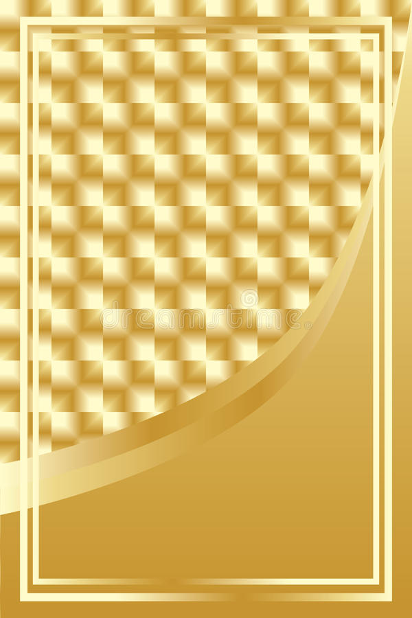 Luxury golden square background. This illustration is drawing luxury golden square background with frame