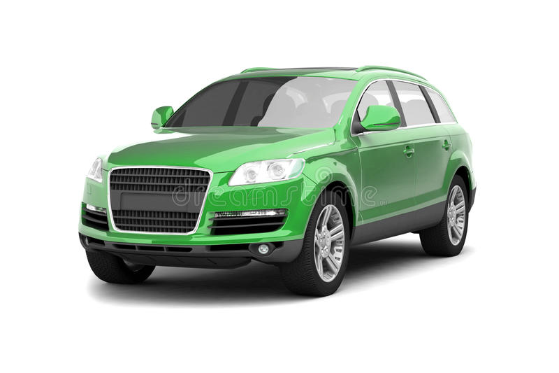 Download Luxury green crossover SUV stock illustration. Illustration of isolated - 10034727
