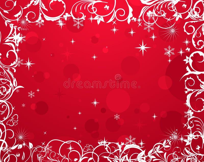 Luxury grunge winter floral frame stock illustration