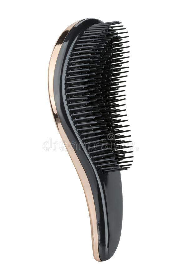 Luxury hair styling soft brush for all hair types, isolated on white background, clipping path included.  royalty free stock photography