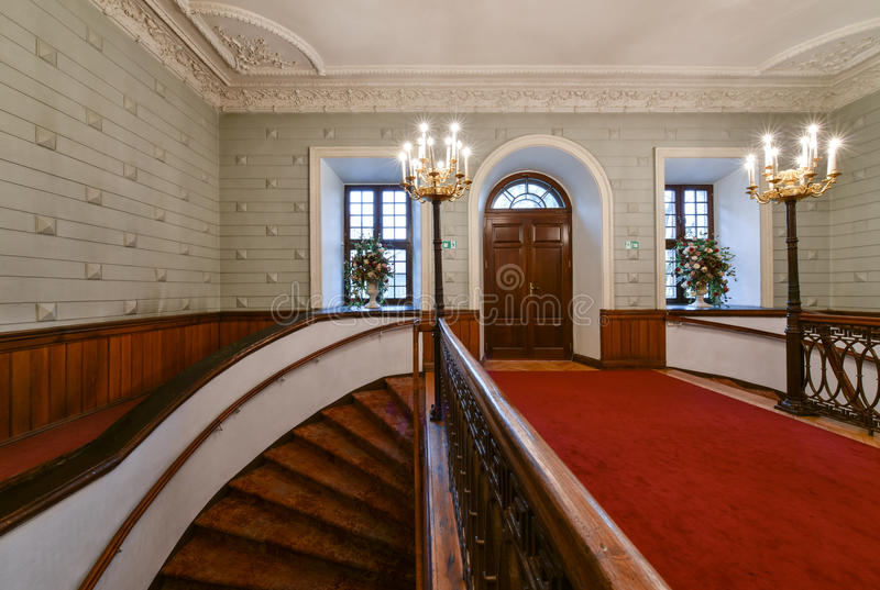 Luxury hall and staircase royalty free stock photography