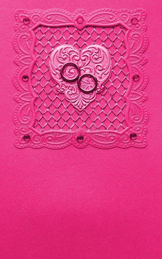 Luxury handmade wedding card royalty free stock photo