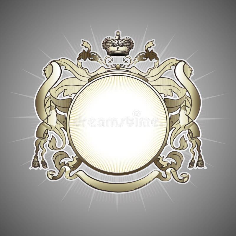 Luxury heraldic frame stock illustration