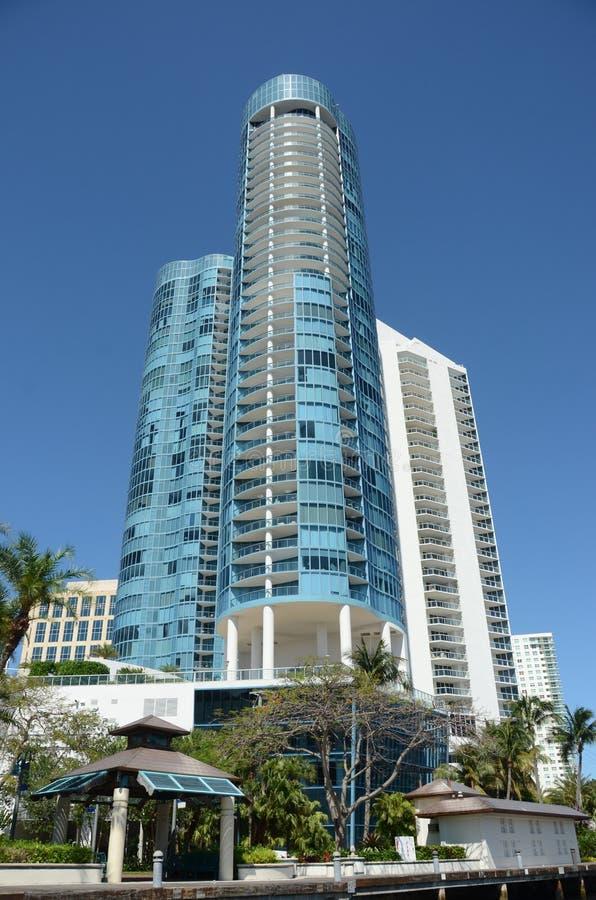 Luxury highrise apartments royalty free stock photo