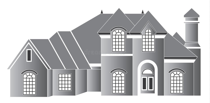 Luxury home royalty free illustration