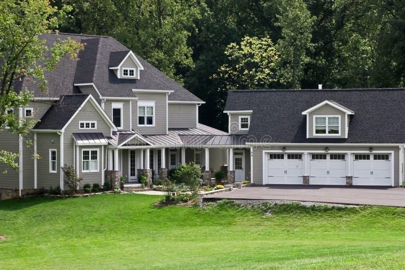 Luxury Home. Beautiful custom-built home in Frederick County Virginia USA stock image