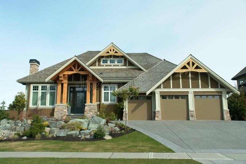 Luxury Home. Beautiful new home built in Morgan Creek - Surrey, BC stock images