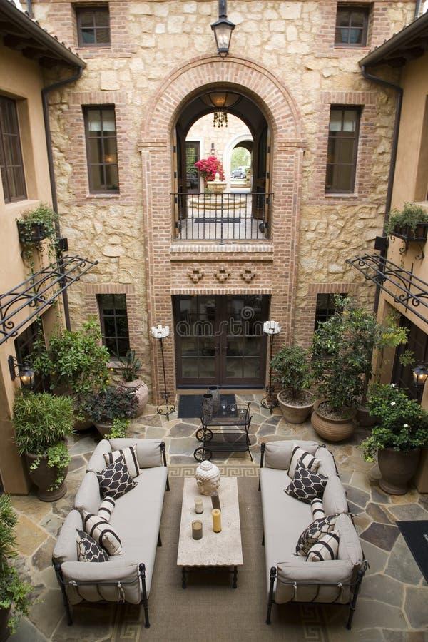 Luxury home atrium stock photos