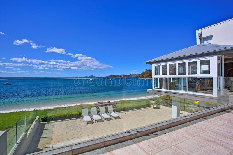 Luxury home balcony stock images