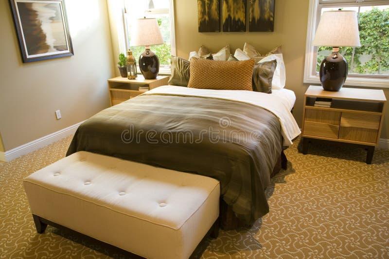 Luxury home bedroom stock photos