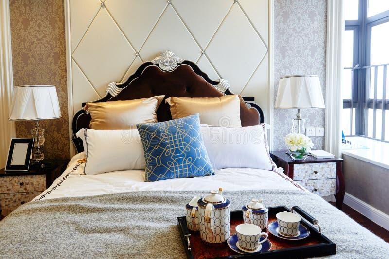 Luxury home bedroom interior royalty free stock image