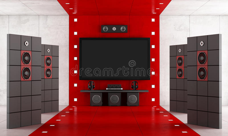 Download Luxury home cinema stock illustration. Illustration of concrete - 39692296