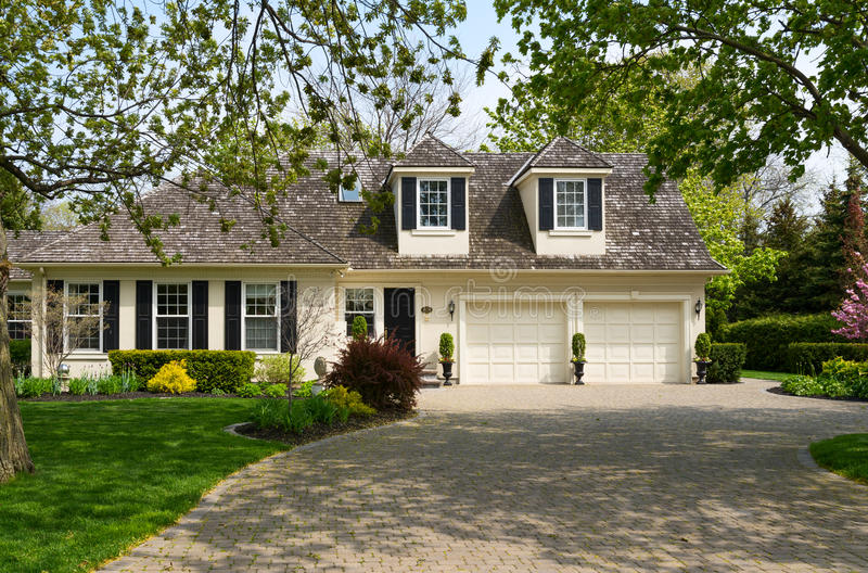 Luxury Home With A Triple Garage Stock Photo Image Of