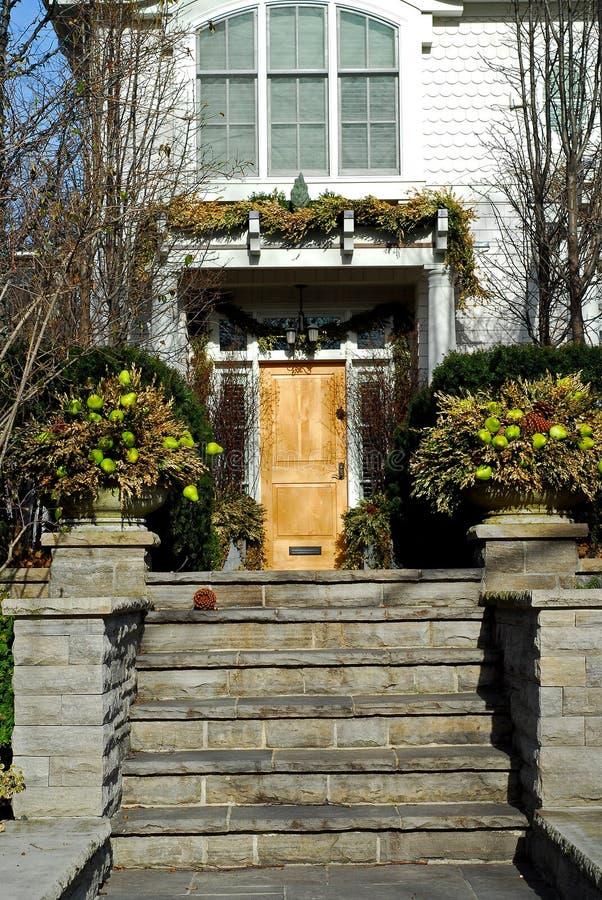 Luxury home entrance stock photos