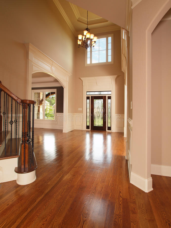 Luxury home entrance way royalty free stock images