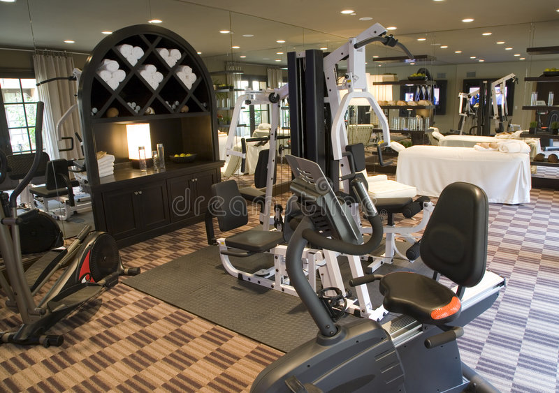 Luxury home gym. stock image. Image of healthcare, dieting - 4653965