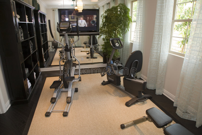 Luxury home gym stock image of estate club